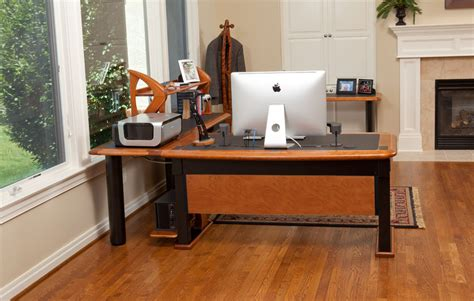 high end computer desks artistic computer desk 2 l shaped right caretta workspace