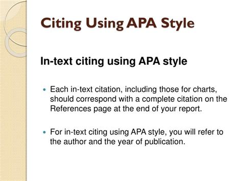 Ppt Citing Using Apa Style Powerpoint Presentation Id Apa Format For Powerpoint Presentations