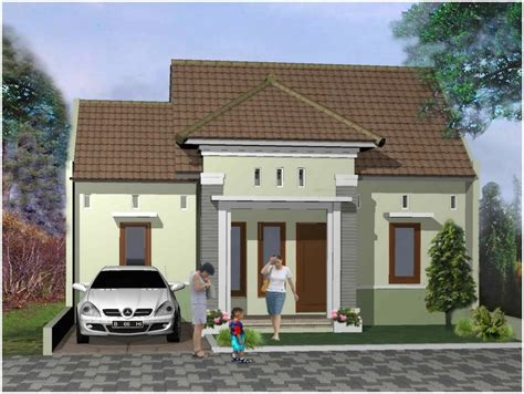 desain depan rumah elegan sempurna model desain rumah minimalis 1 lantai mewah