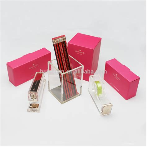 Buy Desk Accessories Acrylic Office Accessories Set Buy Office Desk Set Office Stationery Set Desk Pen Stand Set