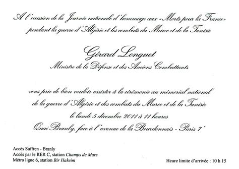 Exemple De Lettre D Invitation A Un Ministre Modele Invitation Inauguration Officielle Document
