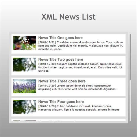 free xml templates for website flash template 227 news list