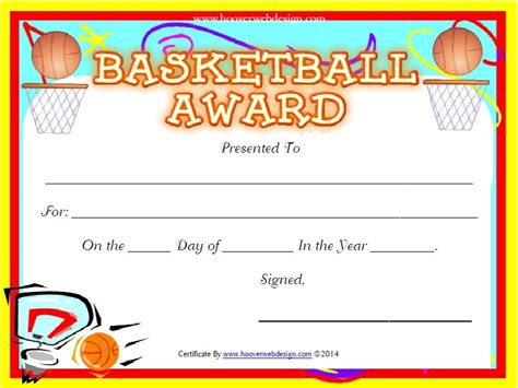 basketball certificate template free 13 free sle basketball certificate templates