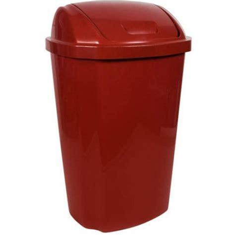 trash can swing lid hefty 13 5 gallon swing lid trash can red walmart com
