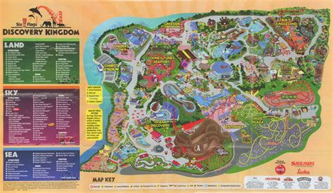 map of six flags six flags discovery kingdom park map 2009 www sixflags