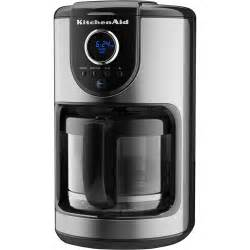 kitchenaid 12 cup glass carafe coffee maker black