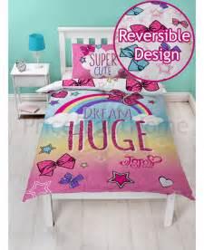 Dance Bedding Jojo Siwa Bows Single Panel Duvet Cover Bedroom