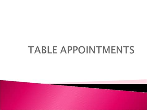 appointment setter definition table appointments
