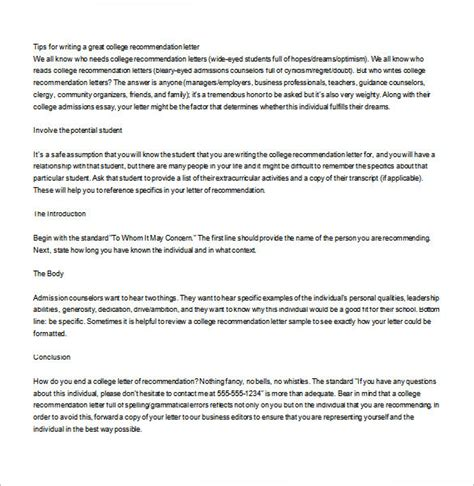 Letter Of Recommendation For College Scholarship From Pastor letter of recommendation for college admission from pastor
