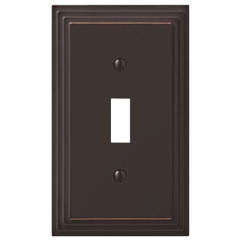 hton bay tiered 1 toggle wall plate aged bronze cast