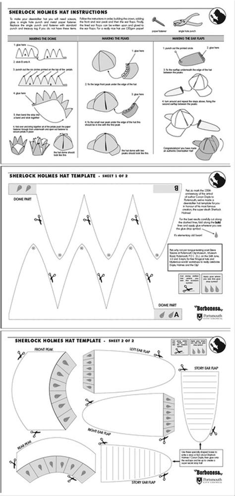 Deerstalker Hat Template Lee Shearman How To Create A Template In