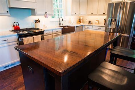 Plank Countertops by Walnut Kitchen Island Maryland Wood Countertops