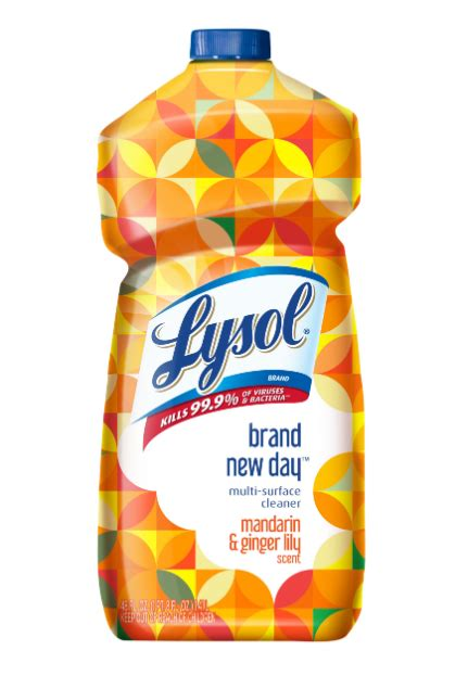 lysol multi surface cleaner brand  day mandarin ginger lily
