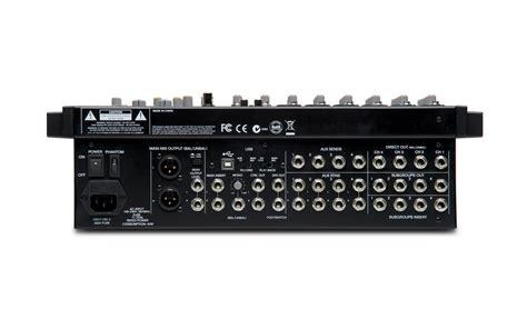 Mixer Alto Zmx 124 alto professional zmx124fxu 12 kanaals pa mixer met