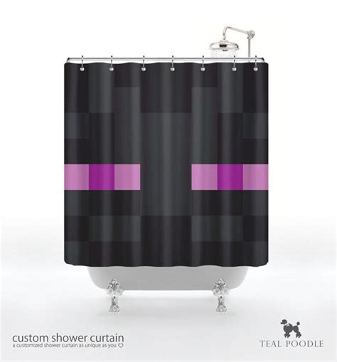 minecraft curtains minecraft enderman shower curtain geekster mine craft