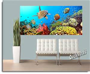 Stick On Wall Mural Under The Sea Peel And Stick Wall Mural