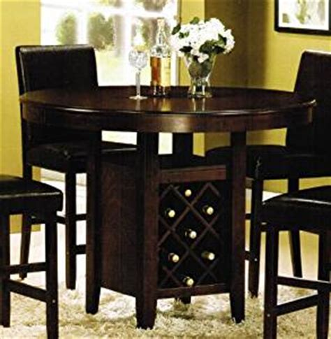 amazon counter height table amazon com counter height dining table with wine rack