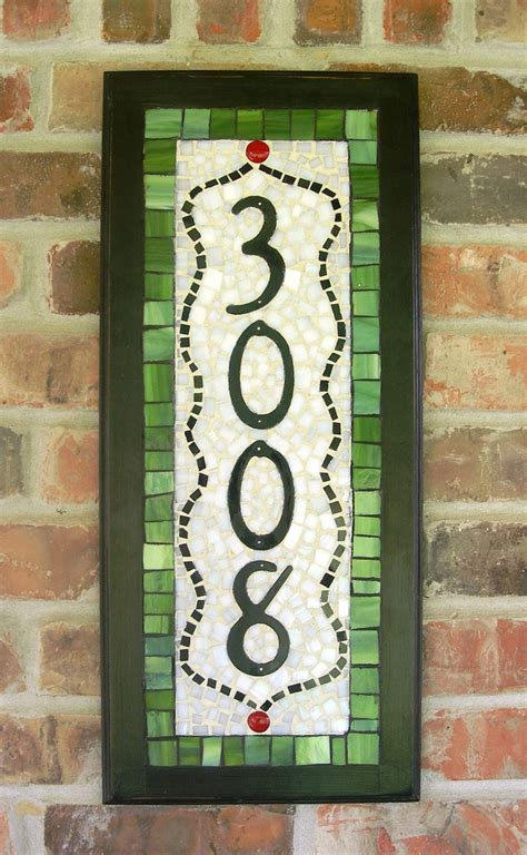 mosaic designs for house numbers mosaic house numbers custom