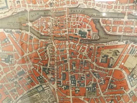 paris ses environs 97 paris nicolas de fer 1646 1720 le plan de paris ses faubourgs et ses environs sale number