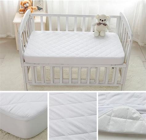 Bed Bug Crib Mattress Cover Washable Bed Bug White Quilted Baby Waterproof Single Crib Mattress Cover Buy Mattress Cover