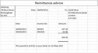payment remittance template payment advice template best remittance slip template