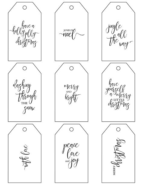 simple printable luggage tags printable christmas gift tags make holiday wrapping simple