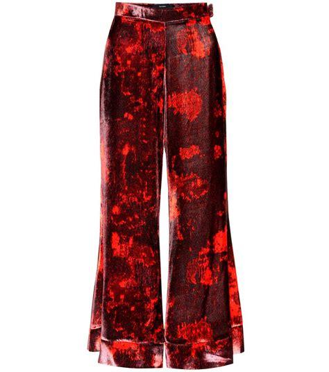 printed velvet ellery jacquard printed velvet trousers mytheresa com