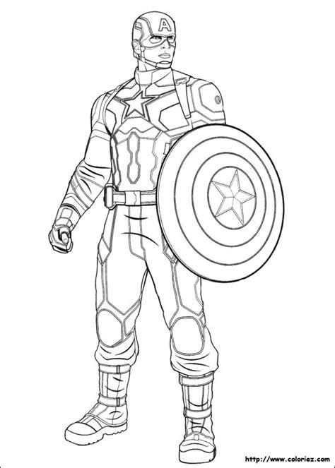 Coloriage Captain America Captain America Civil War Coloring Pages
