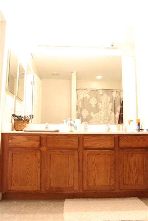easy diy painted bathroom cabinets two boys one pup