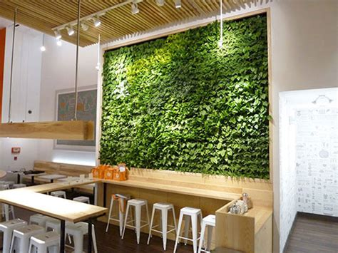 innovative indoor vertical wall garden concept homelilys gsky spruces up organic avenue s new flagship store with a