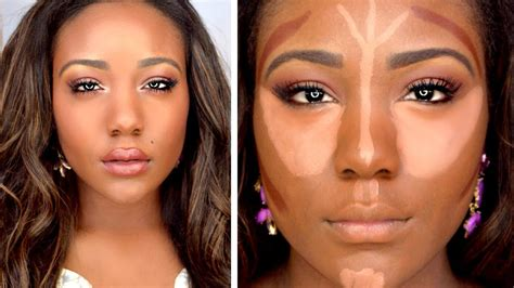 Makeover Powder Eye Shadow how to drugstore contour highlight foundation for black