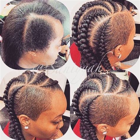cornrows shaved sides 509 best images about cute cornrow braids on pinterest