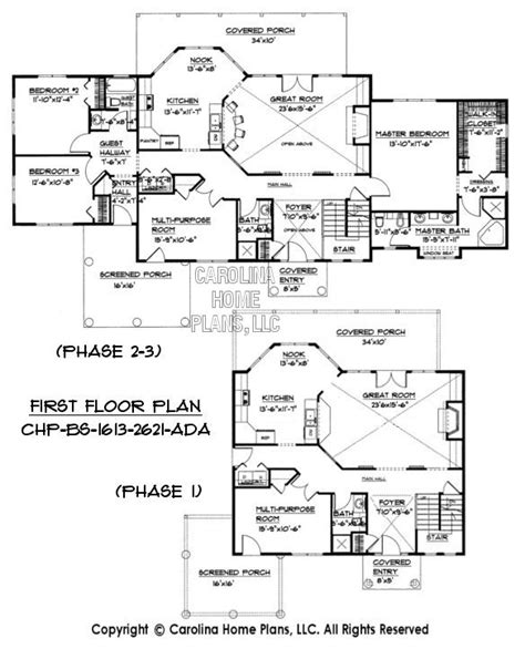 Ad House Plans | build in stages 2 story house plan bs 1613 2621 ad sq ft