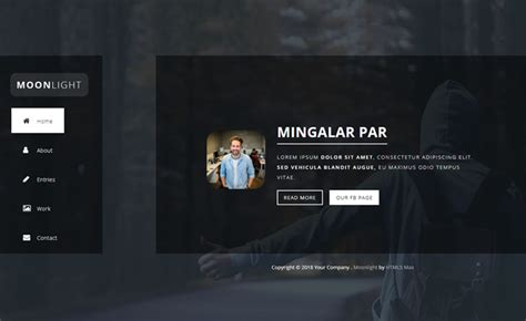 Free Html5 One Page Bootstrap Template With Horizontal Page Sliding Personal Page Template Bootstrap