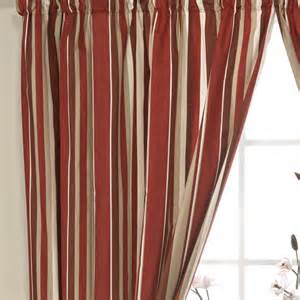 Curtains 187 pencil pleat curtains 187 henley stripe red ready made