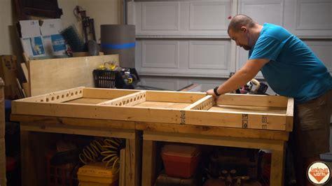 floating garage storage loft  clamp rack  jackman works