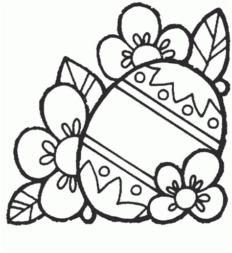 free coloring pages of easter flowers easter coloring pages easter egg with flowers