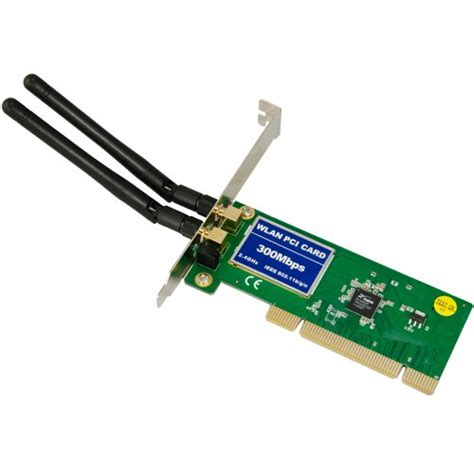 Wifi Card pci 300mbps 300m 802 11b g n wireless wifi card adapter for desktop pc laptop available at