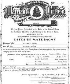 Marriage License Tx Texan Marriages 1837 1977 Familytree