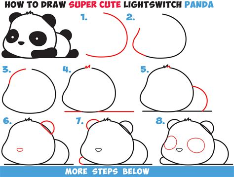 easy kids drawing lessons how to draw a cartoon house how to draw a super cute kawaii panda bear laying down