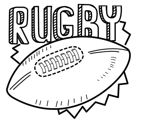 Rugby League Colouring Pages Sports Coloring Pictures For Kids by Rugby League Colouring Pages