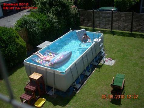 Terrassen Am Hang 3575 by Das Aquapool Schwimmbad Forum Intex Frame Pool Ultra
