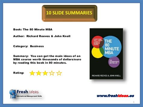 Mba Overview Book by The 80 Minute Mba 10 Slide Summaries