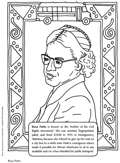 cut out black history month coloring book coloring pages