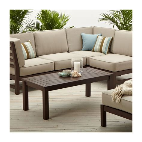 outdoor patio sectional furniture com strathwood anderson hardwood sectional corner