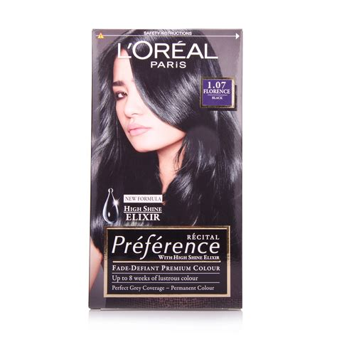 Loreal Black l oreal preference florence black 1 07 hair colour