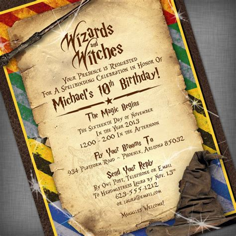 free harry potter place card template harry potter birthday invitations printable dolanpedia