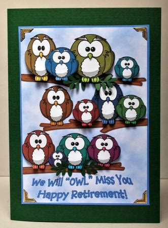 we miss you card template we will owl miss you retirement a4 card cup399089 601