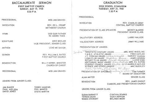 Graduation Program Martin High School Class Of 1968 Graduation Ceremony Program Sle