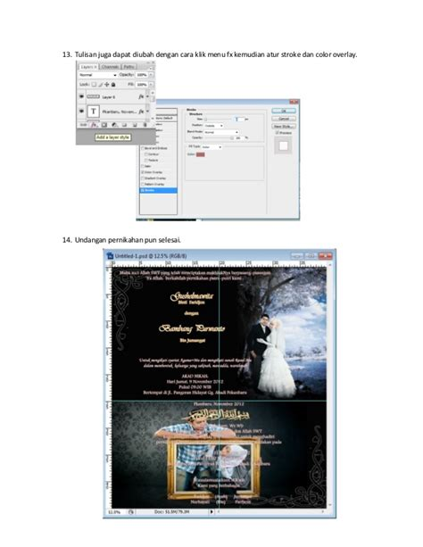 membuat undangan nikah dengan photoshop membuat undangan pernikahan menggunakan adobe photoshop